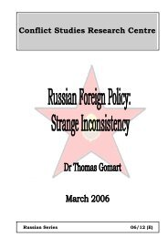 Russian Foreign Policy - Defence Academy of the United Kingdom