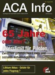 oder älter? Alterslimit für Piloten - Austrian Cockpit Association