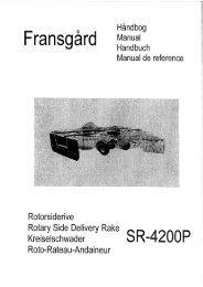 F ransgard ' Manua' - JS Woodhouse