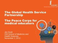 The Global Health Service Partnership The Peace Corps for medical ...