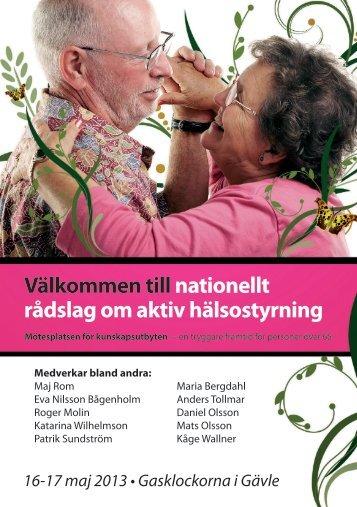 Nationellt rådslag om aktiv hälsostyrning - Landstinget Gävleborg
