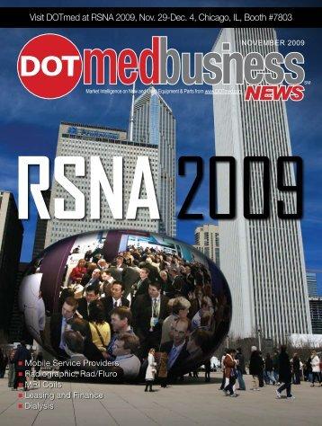 Visit DOTmed at RSNA 2009, Nov. 29-Dec. 4 ... - DOTmed.com