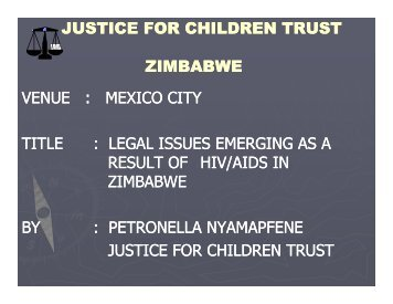 legal issues emerging a - The Coalition for Children Affected by AIDS