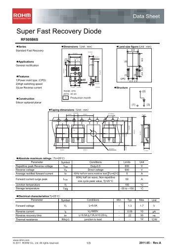 RF505B6S : Diodes - Rohm
