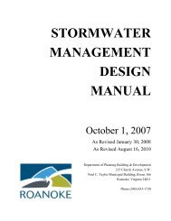 STORMWATER MANAGEMENT DESIGN MANUAL - City of Roanoke