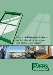 Fenster und Türen vom Fachmann - EVERS Bauelemente
