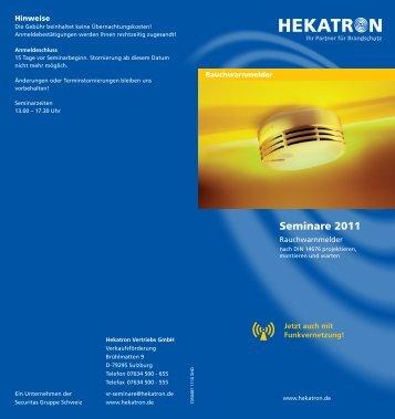 Seminare Rauchwarnmelder 2011 - RWA-Berlin