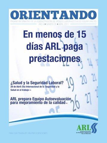 En menos de 15 días ARL paga prestacionesP.3 - Administradora ...