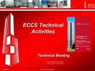 ECCS Technical activities