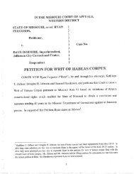 Writ of Habeas Corpus petition - Free Ryan Ferguson