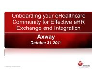 Axway Onboarding your eHealthcare Community for Effective eHR ...