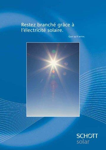 Restez branché grâce à l'électricité solaire. - sat-solar.ch