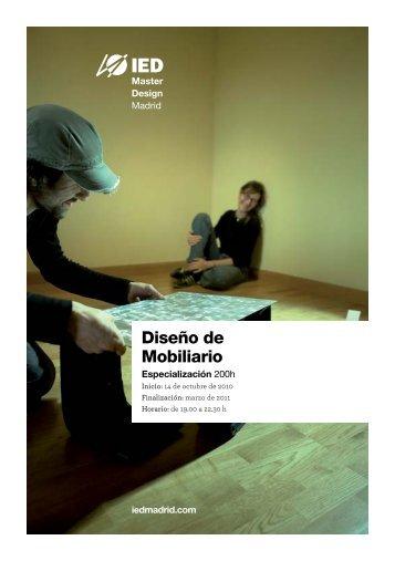 Diseño de Mobiliario - IED Madrid