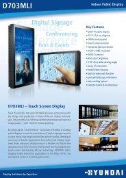 D703MLI – Touch Screen Display - Crambo