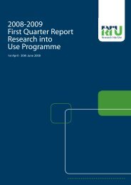 First Quarter Report - Research Into Use