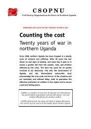 Counting the Cost – Twenty Years of War in Northern Uganda