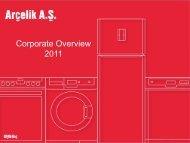 Corporate Overview 2011 - Arçelik