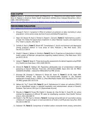 BOOK CHAPTER Fatmi Z, Pappas G. - Aga Khan University