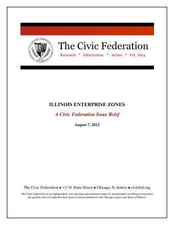 ILLINOIS ENTERPRISE ZONES A Civic Federation Issue Brief