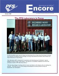 October 2005 Encore - PFS Information