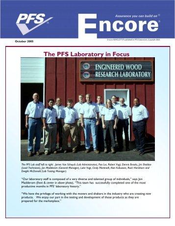 October 2005 Encore - PFS Information