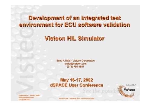 Development of an integrated test environment for ECU
