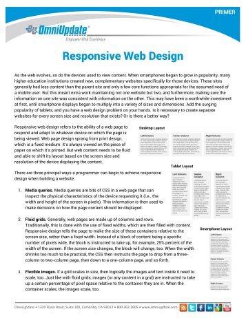 Responsive Web Design Primer - OmniUpdate