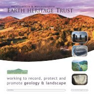 brochure - Herefordshire & Worcestershire Earth Heritage Trust