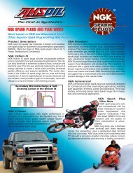 NGK SPARK PLUGS AND PLUG WIRES - Amsoil