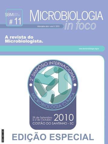 EDIÇÃO ESPECIAL - Sociedade Brasileira de Microbiologia