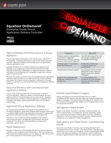 Equalizer OnDemand™ - Coyote Point