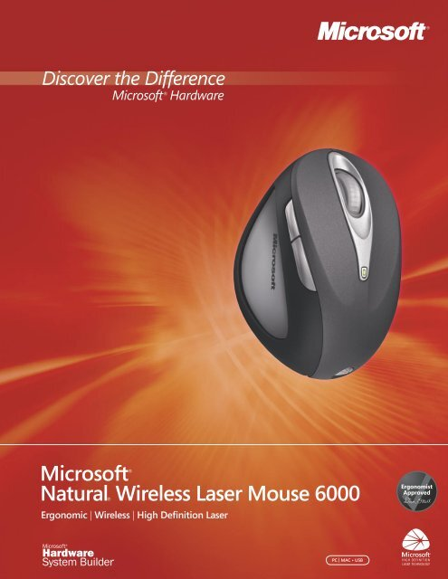 fc44cc786dc Natural Wireless Laser Mouse 6000