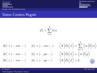 Slater-Condon-Regeln