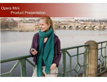 Opera Mini Product Presentation - Software Ecosystems