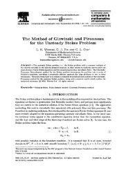 The Method of Glowinski and Pironneau for the Unsteady Stokes ...