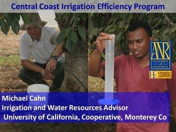 Central Coast Irrigation Efficiency Program - Central Coast Vineyard ...
