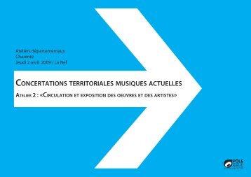 Atelier 2 – Charente - Concertations Musiques Actuelles