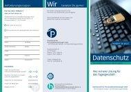Datenschutz - Gesellschaft für Personaldienstleistungen mbH