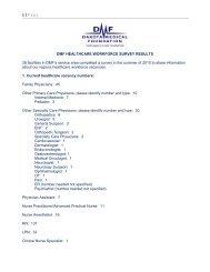 DMF Healthcare Workforce Survey Results - Dakota Medical ...