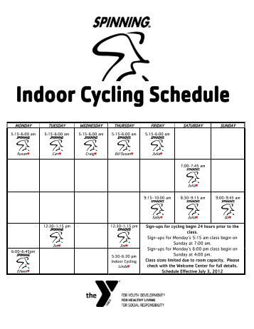 group fitness schedule - Wallingford Family YMCA