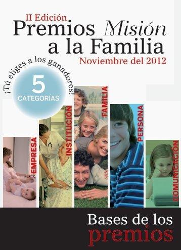 PremiosMisión a la Familia - Revista Misión