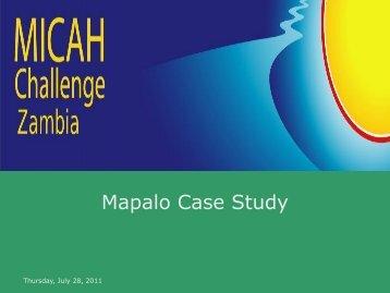 Mapalo Case Study - Micah Challenge Zambia - Micah Network