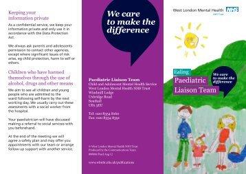 Paediatric Liaison Team - West London Mental Health NHS Trust