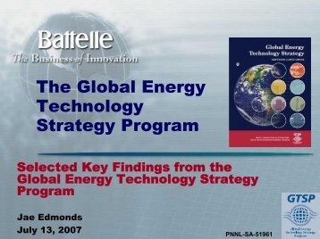 The Global Energy Technology Strategy Program - US Chamber of ...