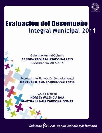 Evaluación del desempeño integral municipal 2011