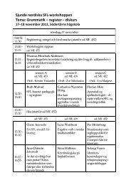 Sjunde nordiska SFL-workshoppen Tema: Grammatik – register ...