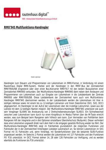 RMX7945 Multifunktions-Handregler - MDVR