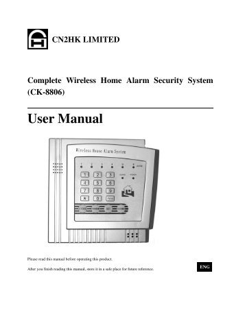 CN2HK LIMITED Complete Wireless Home Alarm Security System