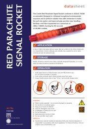 Red Pa R achute Signal Rocket