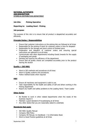 job description template e4c